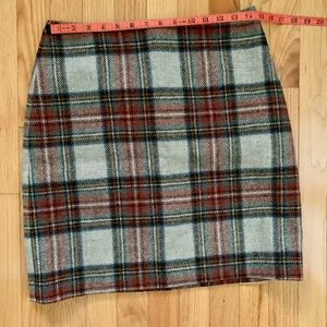 Boden Wool Plaid Skirt